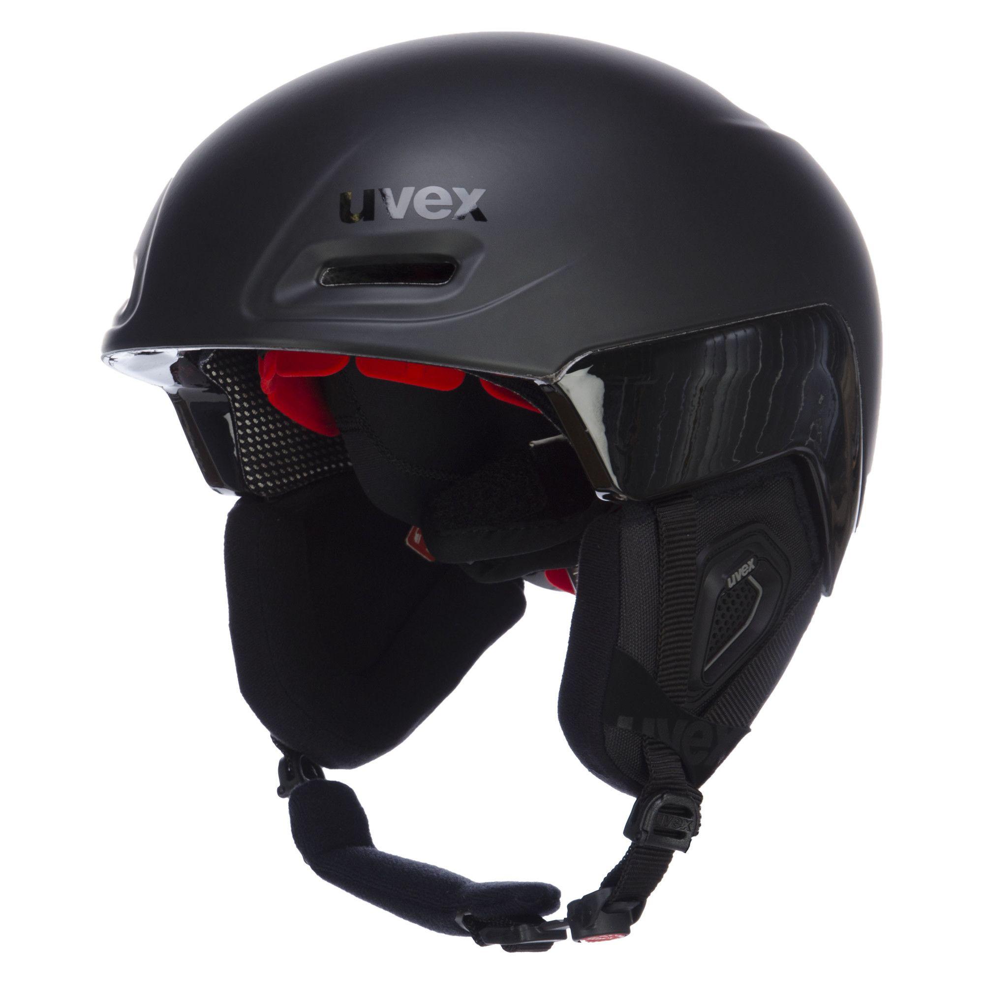 black-red mat Uvex Skihelm Jimm octo+