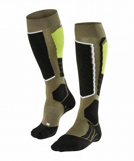 Falke, ski socks thyme green