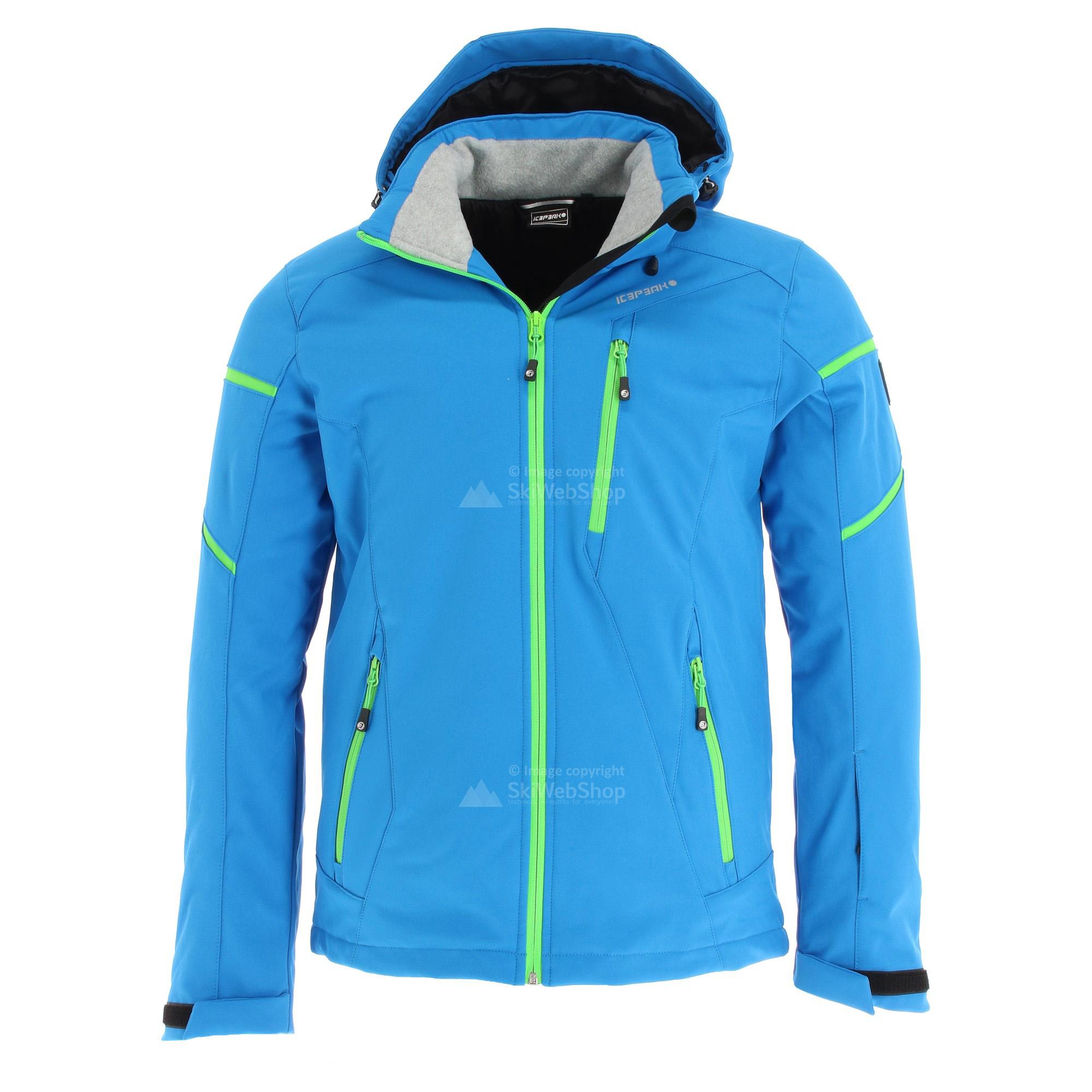 Icepeak, Nils, softshell ski jacket, men, blue