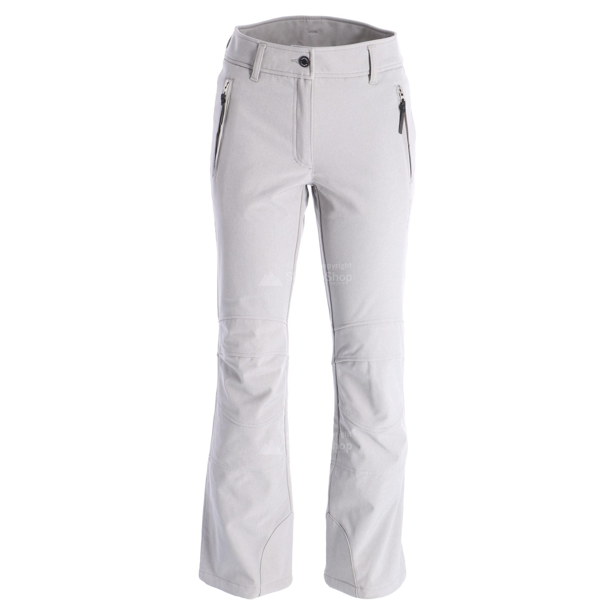 Icepeak, Outi, softshell ski pants, women, gemeleerd grey