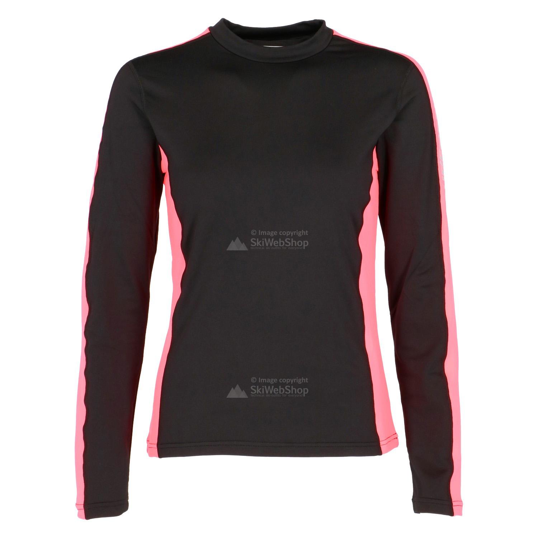 Icepeak rosita thermal shirt women black and hot pink for Thermal shirt for women