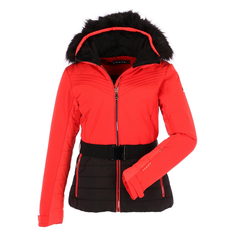 luhta bieta slim fit ski jacket women coral red. Black Bedroom Furniture Sets. Home Design Ideas