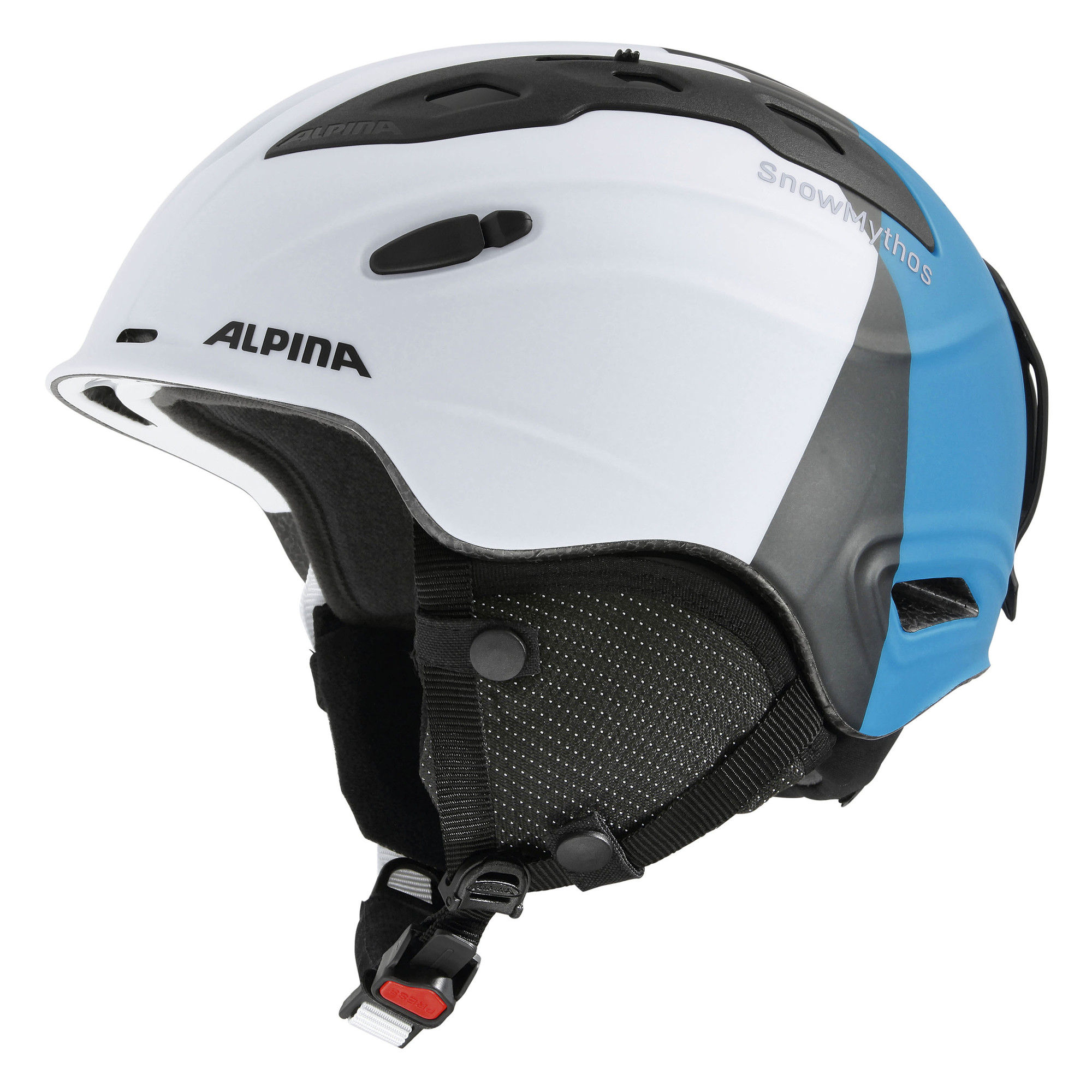 Alpina Snow Mythos helm wit zilver blauw mat