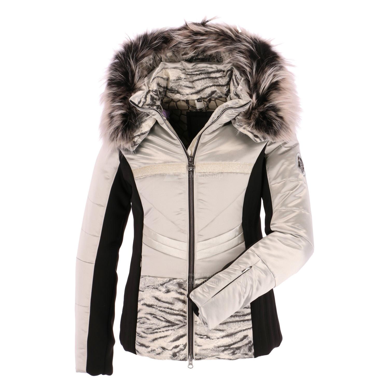 sportalm eye of the tiger ski jacket women grey. Black Bedroom Furniture Sets. Home Design Ideas
