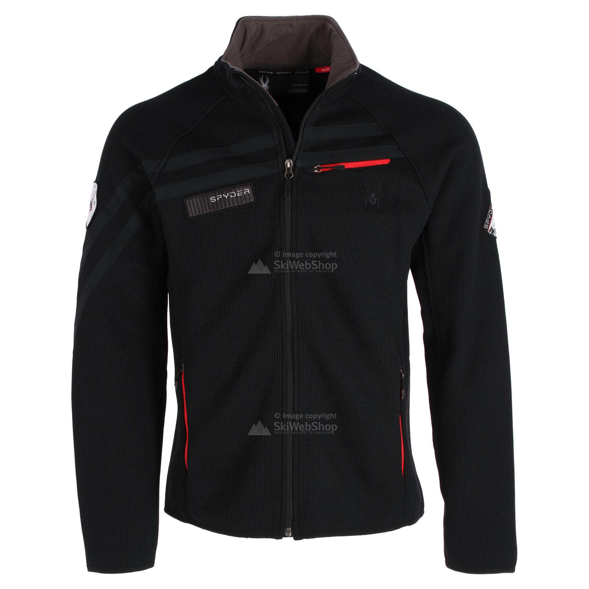 Spyder, Wengen Full Zip, midlayer jacket, men, black