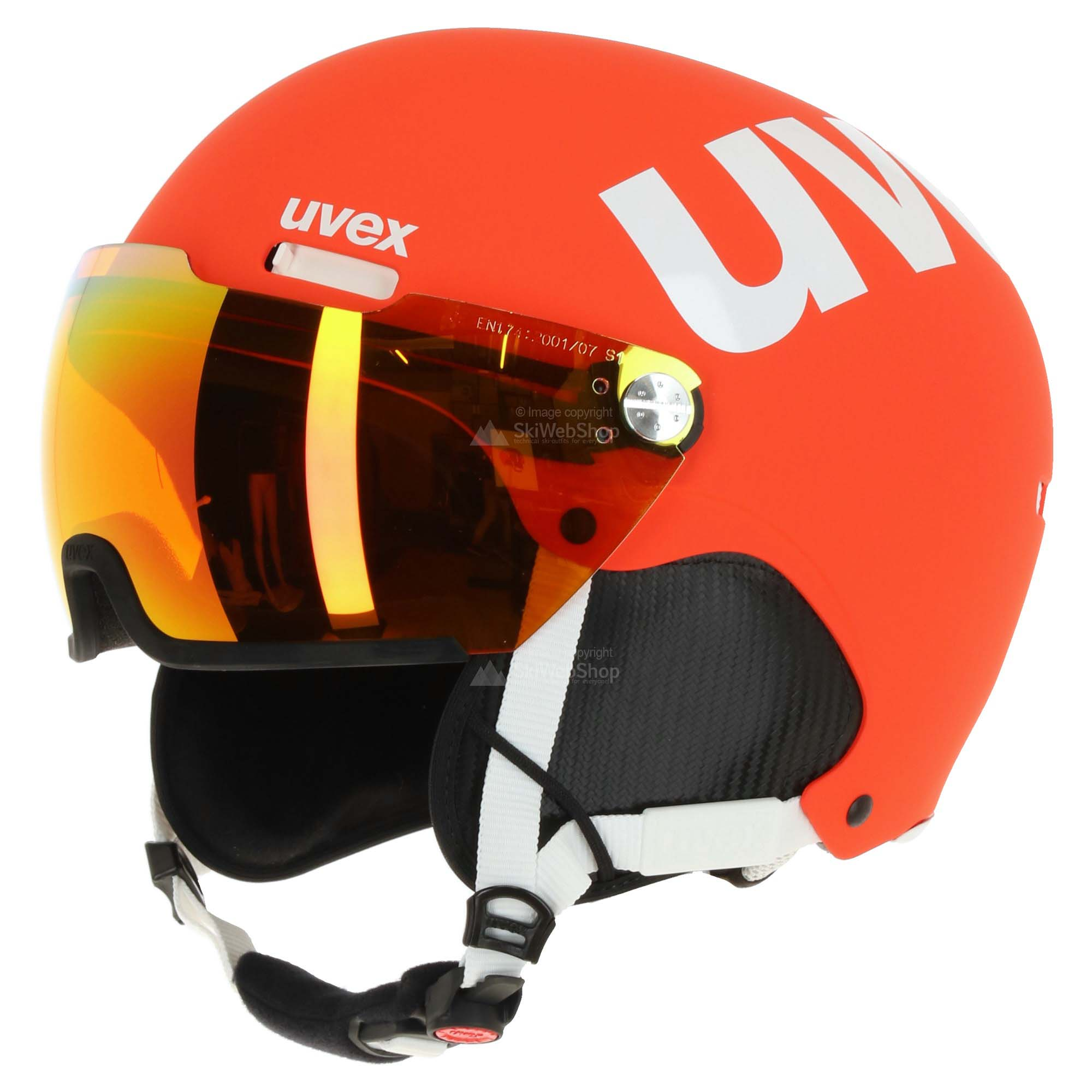 Uvex Hlmt 500 Visor Ski Helmet Matt Orange Skiwebshop Com