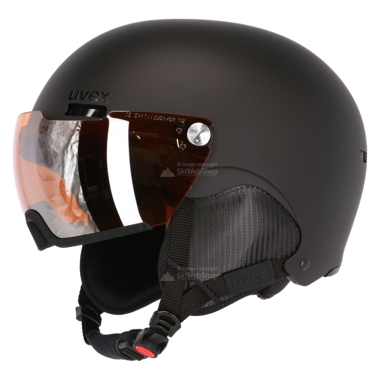 uvex hlmt 500 visor skihelm mat zwart 01 602